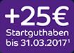 25 Euro Startbonus