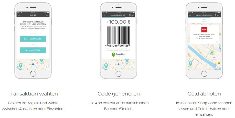 Kreditkarte Einzahlen