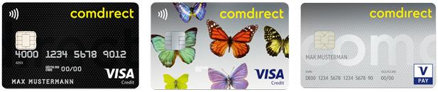 Comdirect VISA Kreditkarte und VPAY girocard