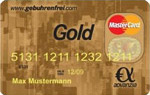 Gebührenfrei MasterCard Gold - Advanzia Bank