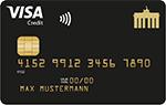 Deutschland-Kreditkarte Gold - PaySol