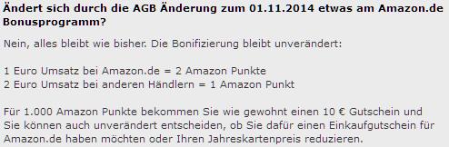Bonusprogramm von Amazon