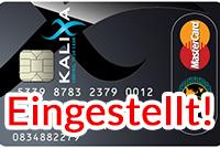 Kalixa Kreditkarte wird eingestellt