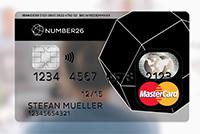 MasterCard Kreditkarte von Number26